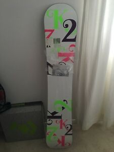 Snowboard, shoes and bindings