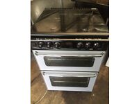 Black & silver new home 60cm gas cooker grill & oven good condition with guarantee bargain