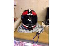 Shark s700s motorcycle helmet.
