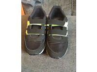 Boys adidas neon trainers size 1 worn twice