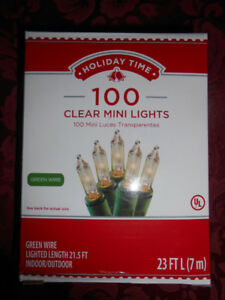 Brand new unopened packages of 100 mini lights