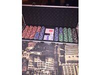 Poker Set SEALED,LOCKABLE