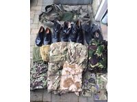 Army boots & clothing