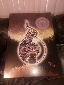 Signed Native print Campbell River Comox Valley Area image 1