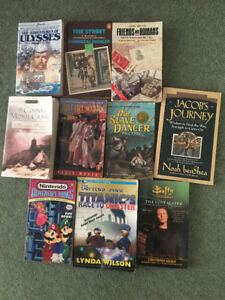 Assortment of School Readers, Young Adult and Adult Books