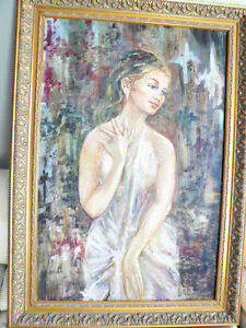 Beautiful Large Portrait Oil on Canvas North Shore Greater Vancouver Area image 2
