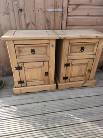 Pair of Mexican pine storage units