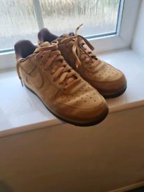 Nike Air Force 1s - Wheat Mocha