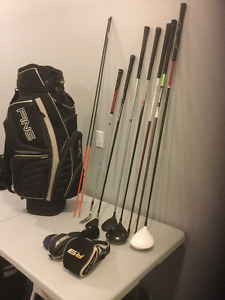 Ping Golf Bag and Left Hand Clubs