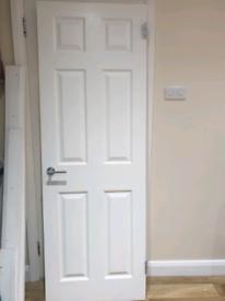 6 panel door, one door