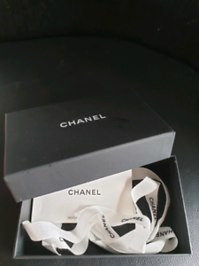Chanel small retail box and packaging ribbons