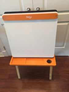 Chalkboard + Whiteboard Double Sided Kids Easel - P'Kolino - $50