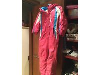 Girl's pink Campri ski suit age 7-8 used 1 holiday