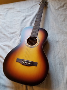 FS: AS NEW Simon and Patrick Songsmith Parlor Guitar + soft case
