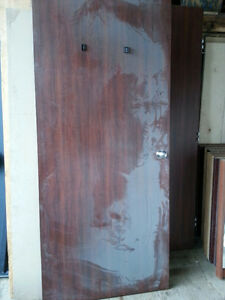 office doors 36 x 84-  solid doors cherry veneer