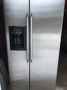 STAINLESS STEEL FRIDGE... needs replacement part