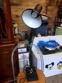 Lovely Condition Black Colour Extending Desk Lamp.