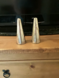 silverplated vintage salt and pepper shakers