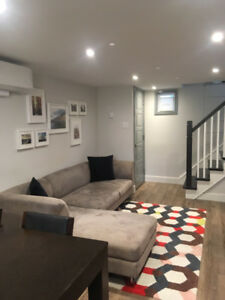 Compact New Modern Basement Apartment - Fully Furnished