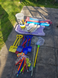 Selection of beach toys