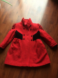 girls youth winter coat sz8