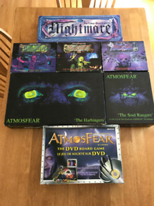 Nightmare and  Atmosfear Board Game Collection
