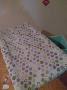 Changing pad mattress and cover
