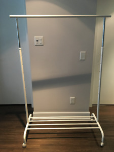 Adjustable Clothes Rack on Wheels