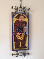 Enameled copper Asian  wall hangings