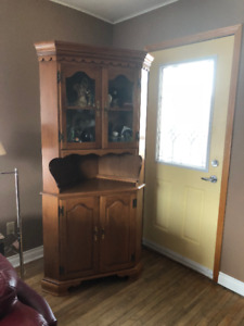 Antique Corner China Cabinet