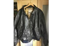 Live leather jacket
