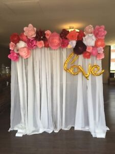 Paper Flower Backdrop/Selfie Wall (Wedding/Baby Shower)