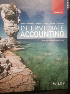 Intermediate Accounting  volume 1 Eleventh Canadian Edition