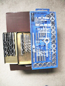 Tap and die 40 pc. set & Drill Bits