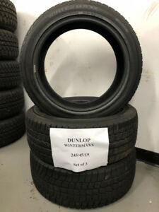 245/45/19 Dunlop Winter Maxx