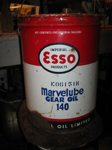 Esso Marvelube 5 Gallon Oil Pail Regina Regina Area image 1