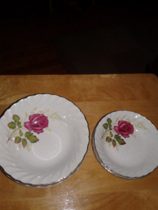 anniversary rose dishes