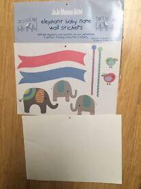 Jojo maman Bebe elephant sticker for baby's room