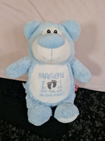 Personalised Embroidered Teddy Cubbie