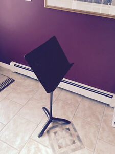 Music stand solid black metal school quality