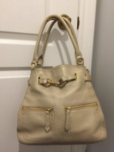 Cole Haan Handbag – gold, beige leather
