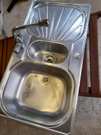 Used sink stainless steel with taps