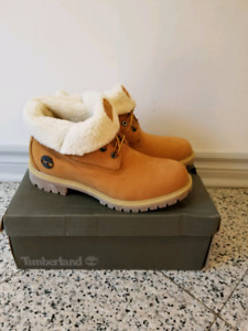 Men's Timberland Roll Top Sherpa Lining Boots Winter Sizes 8-10