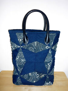 Blue Cloth Padded Tote ... NEW ..Books:Lunch:Odds&Ends Cambridge Kitchener Area image 2