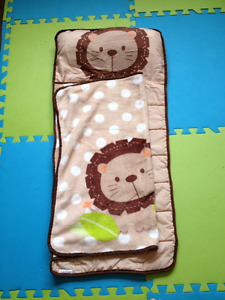Travel baby blanket and pillow