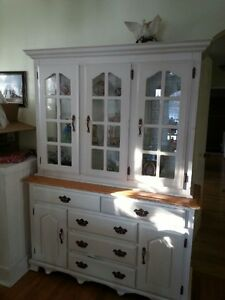 white dinning room Hutch