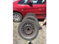 Vectra c steel wheels set of 4 with tyres 225/65/16 5 stud fitment