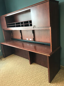 Solid wood desk with bookshelf on the top, pick up only