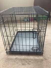 Metal dog crate small