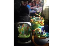 Baby swing walker play centre(similar to a jumperoo)and pushchair